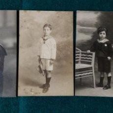 Fotografía antigua: 3 FOTOGRAFIAS POSTAL DE NIÑOS 1ª COMUNION. Lote 134853747