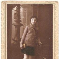 Fotografía antigua: MUJER PRINCIPIOS SIGLO XX - FOTÓGRAFO SANTONJA - CON TOQUES DE COLOR - ALCOY (ALICANTE). Lote 134856542