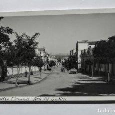 Fotografía antigua: BINÉFAR HUESCA AVENIDA DEL CAUDILLO. Lote 135135014