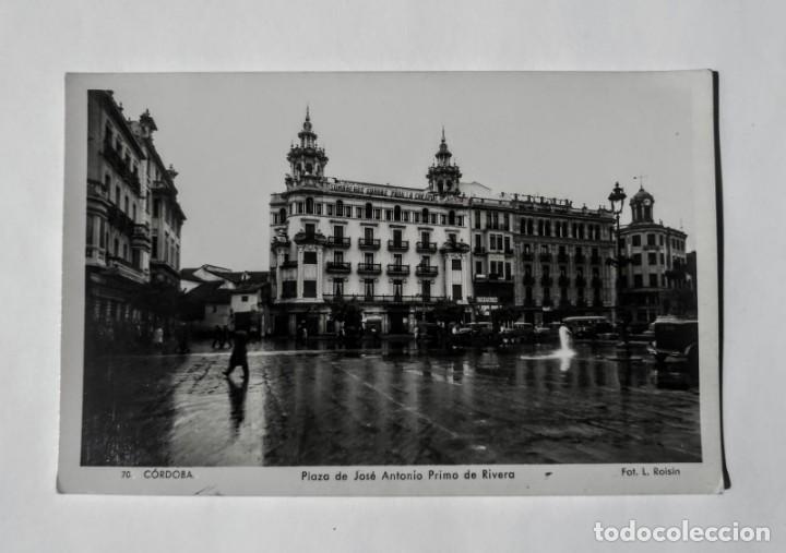 CÓRDOBA PLAZA DE JOSÉ ANTONIO PRIMO DE RIVERA L.ROSIN (Fotografía Antigua - Tarjeta Postal)