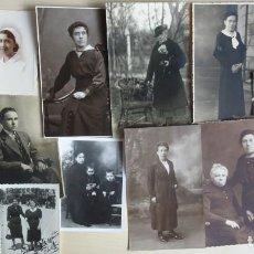 Fotografía antigua: LOTE DE 14 RETRATOS ANTIGUOS EN FORMATO POSTAL Y ALGUNA FOTOGRAFÍA SUELTA , VER FOTOS. Lote 135182798