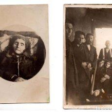 Fotografía antigua: DOS FOTOGRAFÍAS POST MORTEM. POSIBLEMENTE CASTILLA.(FORMATO POSTAL). . Lote 135345602