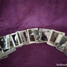 Fotografía antigua: LOTE DE UNAS 36 ANTIGUAS FOTOPOSTALES O FOTOS, B/N. Lote 135352878