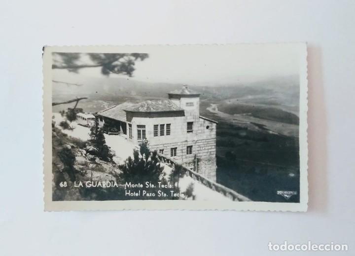 LA GUARDIA MONTE SANTA TECLA HOTEL PAZO STA. TECLA PONTEVEDRA (Fotografía Antigua - Tarjeta Postal)