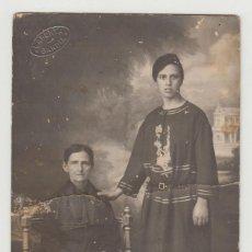 Fotografía antigua: ANTIGUA FOTOGRAFÍA, TARJETA POSTAL, LAPORTA, GANDIA, VALENCIA, SEÑORA Y MUCHACHA. Lote 135731647