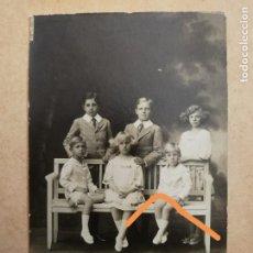 Fotografía antigua: ANTIGUA FOTOGRAFÍA POSTAL. HIJOS DEL REY ALFONSO XIII.. Lote 136191310