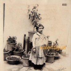 Fotografía antigua: MAGNÍFICA FOTOGRAFÍA TARJETA POSTAL. NIÑA VESTIDA DE VALENCIANA FALLERA CON MANTÓN DE MANILA 1914 CB. Lote 137330766