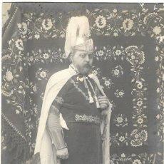 Fotografía antigua: 1905-1915 CA FOTO POSTAL. RETRATO HOMBRE CON DISFRAZ PROCEDENCIA VALENCIA / ALCOY. MIEMBRO FILA?. Lote 137944210
