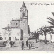 Photographie ancienne: REPRODUCCIÓN FOTOGRÁFICA 10*7 DE ANTIGUA POSTAL '3. HUELVA - PLAZA E IGLESIA DE SAN PEDRO'.. Lote 138103282