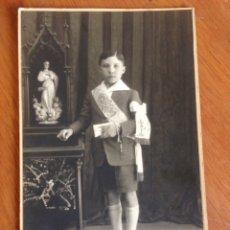 Fotografía antigua: ANTIGUA TARJETA POSTAL DE NIÑO CON DEDICATORIA. Lote 138622974