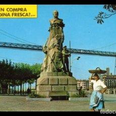 Fotografía antigua: TARJETA POSTAL, Nº 7321 POTUGALETE, VIZCAYA, MONUMENTO A VICTOR CHAVARRI.. Lote 138895094