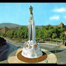 Fotografía antigua: TARJETA POSTAL, Nº 7218 BILBAO, PLAZA Y MONUMENTO DEL SAGRADO CORAZON.. Lote 138895466