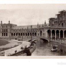 Fotografía antigua: SEVILLA.- PLAZA DE ESPAÑA EN CONSTRUCIÓN.PALACIO DE EXPOSICIÓN. TOMADA POR TURISTA ITALIANO. C.1925. Lote 139664930
