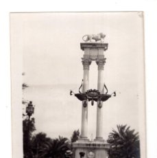 Fotografía antigua: SEVILLA.- C.1925. MONUMENTO CRITÓBAL COLÓN. FOTO TOMADA POR TURISTA ITALIANO.. Lote 139748966