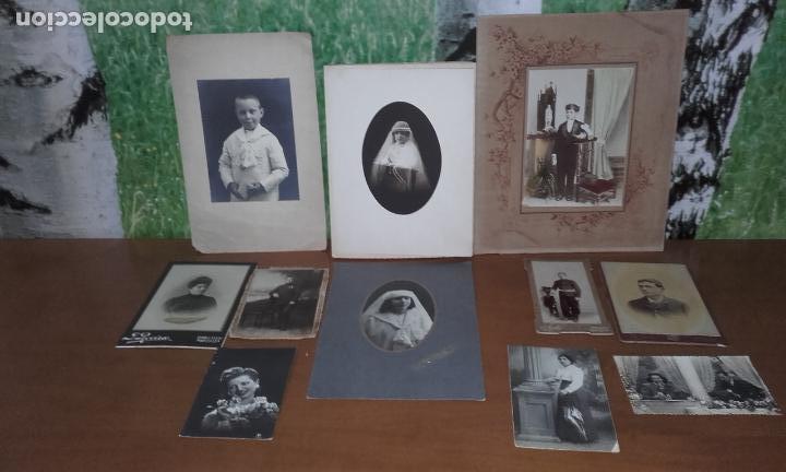 11 FOTOGRAFÍAS ANTIGUAS (Fotografía Antigua - Tarjeta Postal)