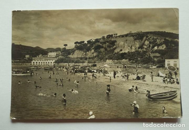 ARENYS DE MAR Playa del puerto Fotografia postal