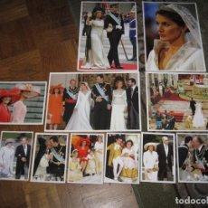 Fotografía antigua: 12 FOTOS CDE LA BODA DELOS PRINCIPES AHORA REYES DE ESPAÑA-SIN USO. Lote 140987798