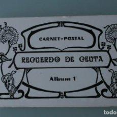 Fotografía antigua: ANTIGUO CARNET POSTAL RECUERDO DE CEUTA ALBUM 1 - ARCHIVO MUNICIPAL - FOTOTIPIA CASTAÑEIRA Y ALVAREZ. Lote 141100554