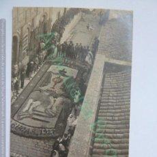 Fotografía antigua: TARJETA POSTAL. ARUCAS. AÑO 1927. ALFOMBRAS DE SAL . Lote 143695102