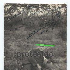 Fotografía antigua: JUAN URIACH. 5-5-1918. DEDICADA, MANUSCRITA, AUTÓGRAFA. FOTOGRAFÍA J.CASAÚ. CARTAGENA, MURCIA.. Lote 143732350