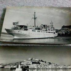 Fotografía antigua: DOS TARJETAS POSTALES ANTIGUAS DE IBIZA. Lote 143756558