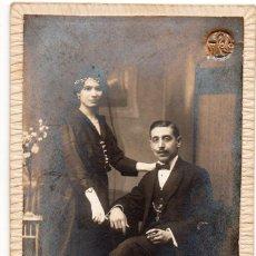 Fotografía antigua: FOTO MUY ANTIGUA, PUESTA EN UNA BASE DURA, TAMAÑO 9X14 CON ANUNCIOS DEL FOTÓGRAFO VALENCIA. Lote 144155950