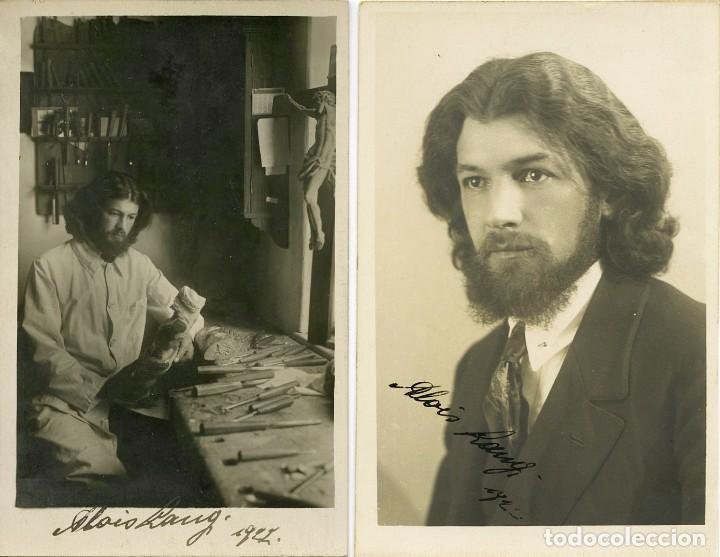 DOS FOTOGRAFÍAS DEL ACTOR ALEMÁN ALOIS LANG, DEDICADAS, OBERAMMERGAU PASSION PLAY. (Fotografía Antigua - Tarjeta Postal)