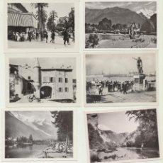 Fotografía antigua: LOTE DE 8 FOTO-POSTALES. (9,5X6,5) INTERLAKEN (SUIZA) Y LOZÉRE (FRANCIA). Lote 144979214