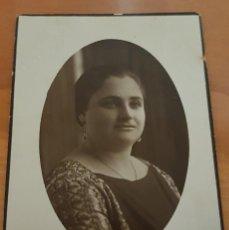 Fotografía antigua: MUJER POSANDO. TARJETA POSTAL (VICENTE CRESPO, 1926). Lote 145133274