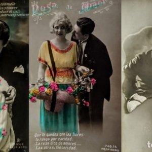 Lote de 3 fotografías románticas