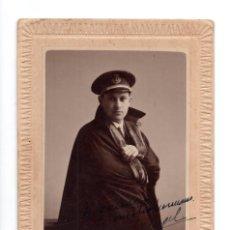 Fotografía antigua: POSTAL FOTOGRÁFICA.- MILITAR DEL CUERPO MARINA.1928. FOTO L.VINCH. GIJON. Lote 147235398
