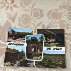 Fotografía antigua: TARJETA POSTAL RECUERDO DE JACA. Lote 147471772