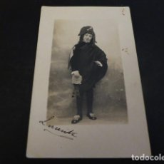 Fotografía antigua: NIÑA DISFRAZADA DE TUNO SOPISTA POSTAL FOTOGRAFICA HACIA 1915 TUNA ESTUDIANTINA . Lote 147932826