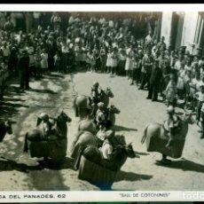 Fotografía antigua: VILAFRANCA - BALL DE COTONINES - FOT. CUYAS . Lote 148095470