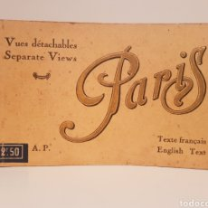 Fotografía antigua: LIBRITO DE TARGETAS POSTALES ORIGINALES, PARIS(20 POSTALES). Lote 148231849