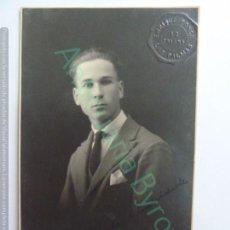 Fotografía antigua: TARJETA POSTAL ANTIGUA ORIGINAL. CABALLERO. SELLO ENRIQUE PONCE. LAS PALMAS. AÑO 1924. Lote 148908874
