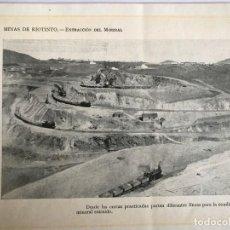 Fotografía antigua: FOTO IMPRESA PROCEDENTE DE LIBRO ANTIGUO MINAS DE RIOTINTO. Lote 149246694