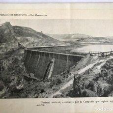 Fotografía antigua: FOTO IMPRESA PROCEDENTE DE LIBRO ANTIGUO MINAS DE RIOTINTO. Lote 149247238