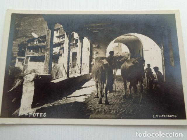 POTES. CANTABRIA. IMAGEN ANTIGUA Y TIPICA. E. BUSTAMANTE. (Fotografía Antigua - Tarjeta Postal)