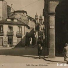 Fotografía antigua: PONTEVEDRA, 4 CALLE MANUEL QUIROGA. EDICIONES ARRIBAS 13,8X9 CM. Lote 149307586