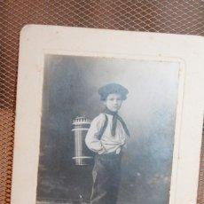 Fotografía antigua: TARJETA POSTAL SOBRE CARTÓN. J. MARTÍ FOT. BCN. 11,5 X 17 CM. INF. 3 FOTOS.. Lote 151571242