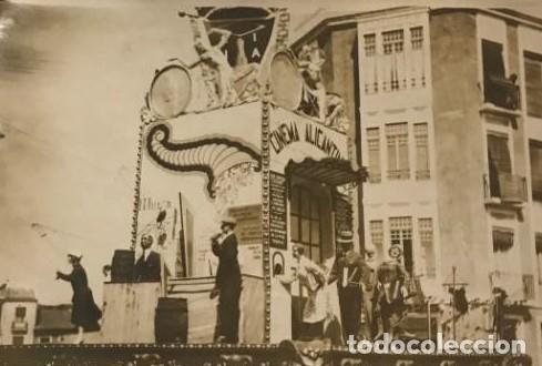 FALLA ALICANTINA. JUNIO 1930 (Fotografía Antigua - Tarjeta Postal)