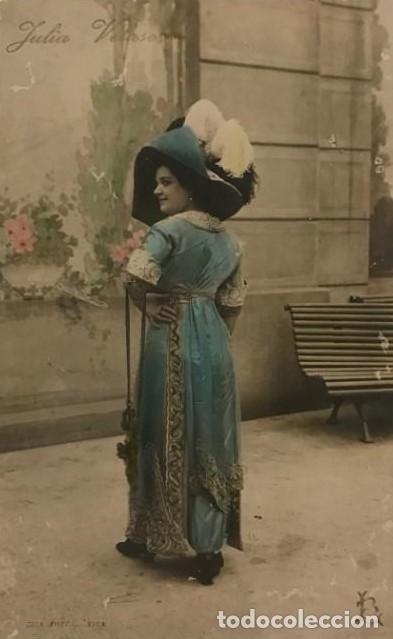 JULIA VELASCO (Fotografía Antigua - Tarjeta Postal)