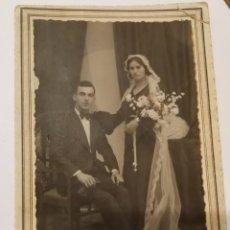 Fotografía antigua: POSTAL FOTOGRAFÍA DEDICADA 1933. Lote 152360698