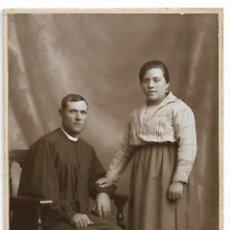 Fotografía antigua: ANTIGUA TARJETA POSTAL FOTOGRAFIA MUJER Y HOMBRE FOTOGRAFO L. SANCHEZ VALENCIA CIRCA AÑO 1925. Lote 152444954