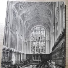 Fotografía antigua: POSTAL BLANCO Y NEGRO KING'S COLLEGE CHAPEL, CAMBRIDGE, GENERAL VIEW LOOKING EAST 1957. Lote 152588614