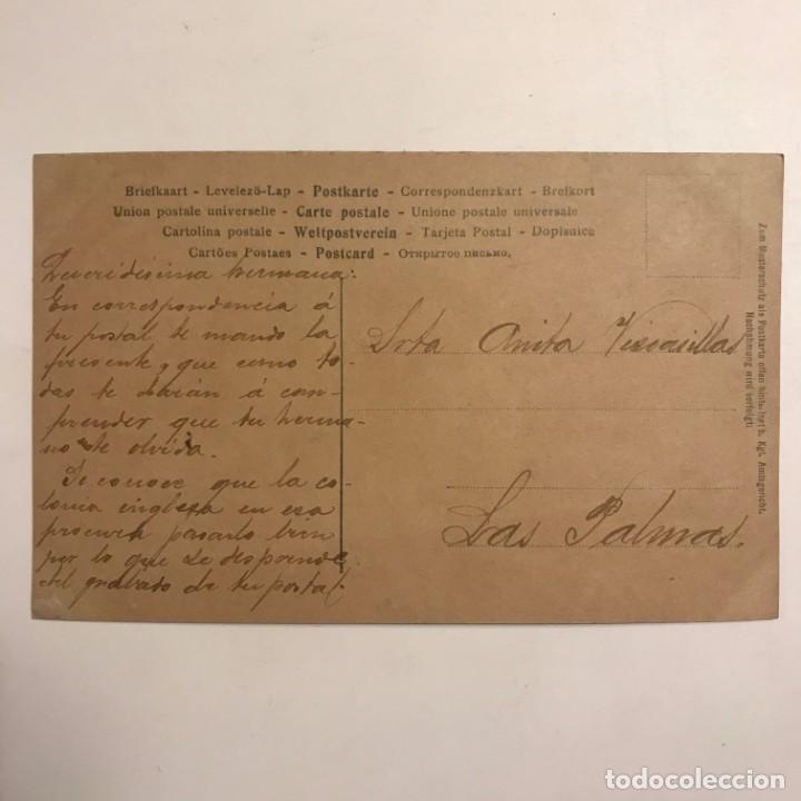 Fotografía antigua: Mujer con jarrón. Fotografía / Tarjeta postal. Original. GC 233/2 Manuscrita por ambas caras - Foto 3 - 154489178