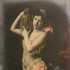 Fotografía antigua - Mujer con jarrón. Fotografía / Tarjeta postal. Original. Hero - 154489570