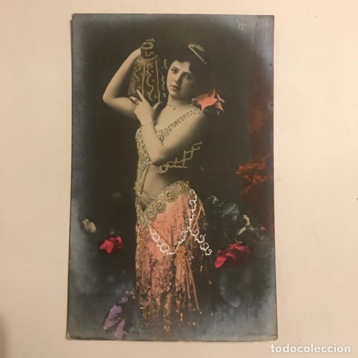 Fotografía antigua: Mujer con jarrón. Fotografía / Tarjeta postal. Original. Hero - Foto 2 - 154489570