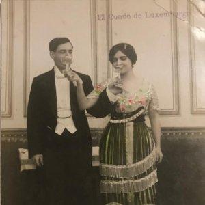 El Conde de Luxemburgo. Opereta. Teatro. Fotografía / Tarjeta postal original